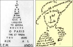 Poesia visual - De Apollinaire aos concretistas - Guillaume Apollinaire (1898 - 1918)