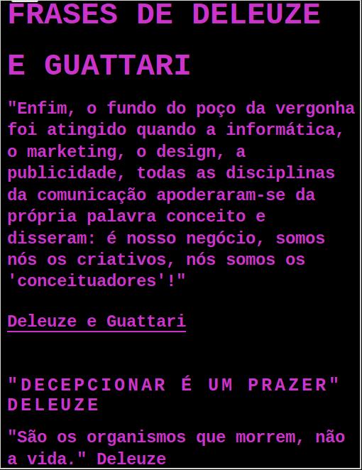 Frases De Deleuze E Guattari Do Primeiro Blog Pichações